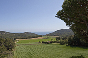 A view towards the sea from the Costa Brava home of artist Pepa Poch.