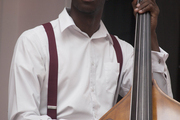 Brandon Benjamin, a bassist in the All-Star Jazz Band