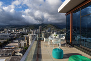 View of Honolulu from a penthouse deck.