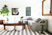 An earthy living room with neutral tones.
