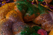 The king cake at Sam Masters Fat Tuesday Party