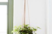 A hanging planter by Farrah Sit at the WorkOf installation in Brooklyn