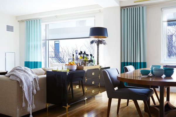 Teal Curtains Photos Design Ideas Remodel And Decor Lonny