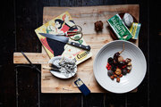 An arrangement of chef Camille Becerra's apothecary and cooking necessities