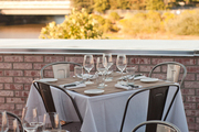 Rooftop tables at downtown Napa's The Thomas restaurant