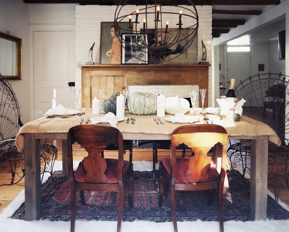 Impressive Rustic Dining Table Holiday Decor 594 x 477 · 107 kB · jpeg