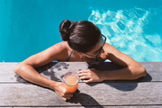 A tropical drink enjoyed poolside