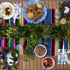 An outdoor dinner mash-up in honor of Cinco de Mayo and the Kentucky Derby