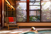 A swimmer enjoys an indoor pool at the Golden Door Spa