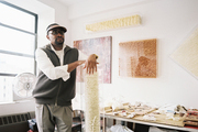 LeRone Wilson in his Harlem art studio