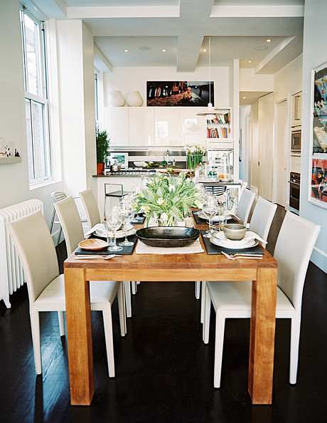 White Kitchen And Dining Room modern dining room photos (337 of 339)