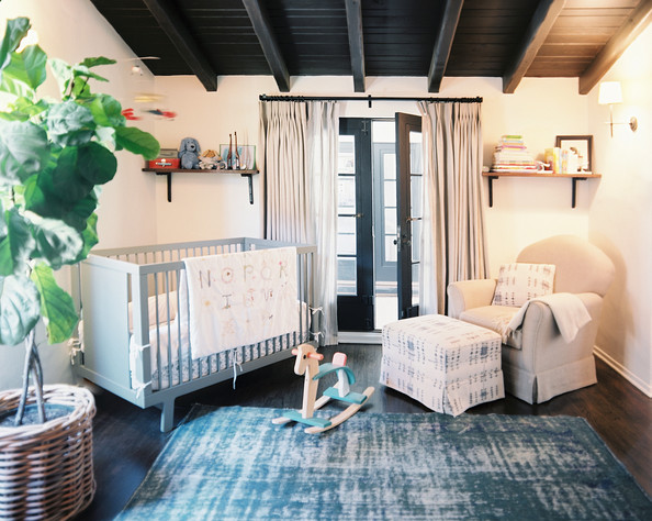 Kids' Room - A nursery in shades of blue and white