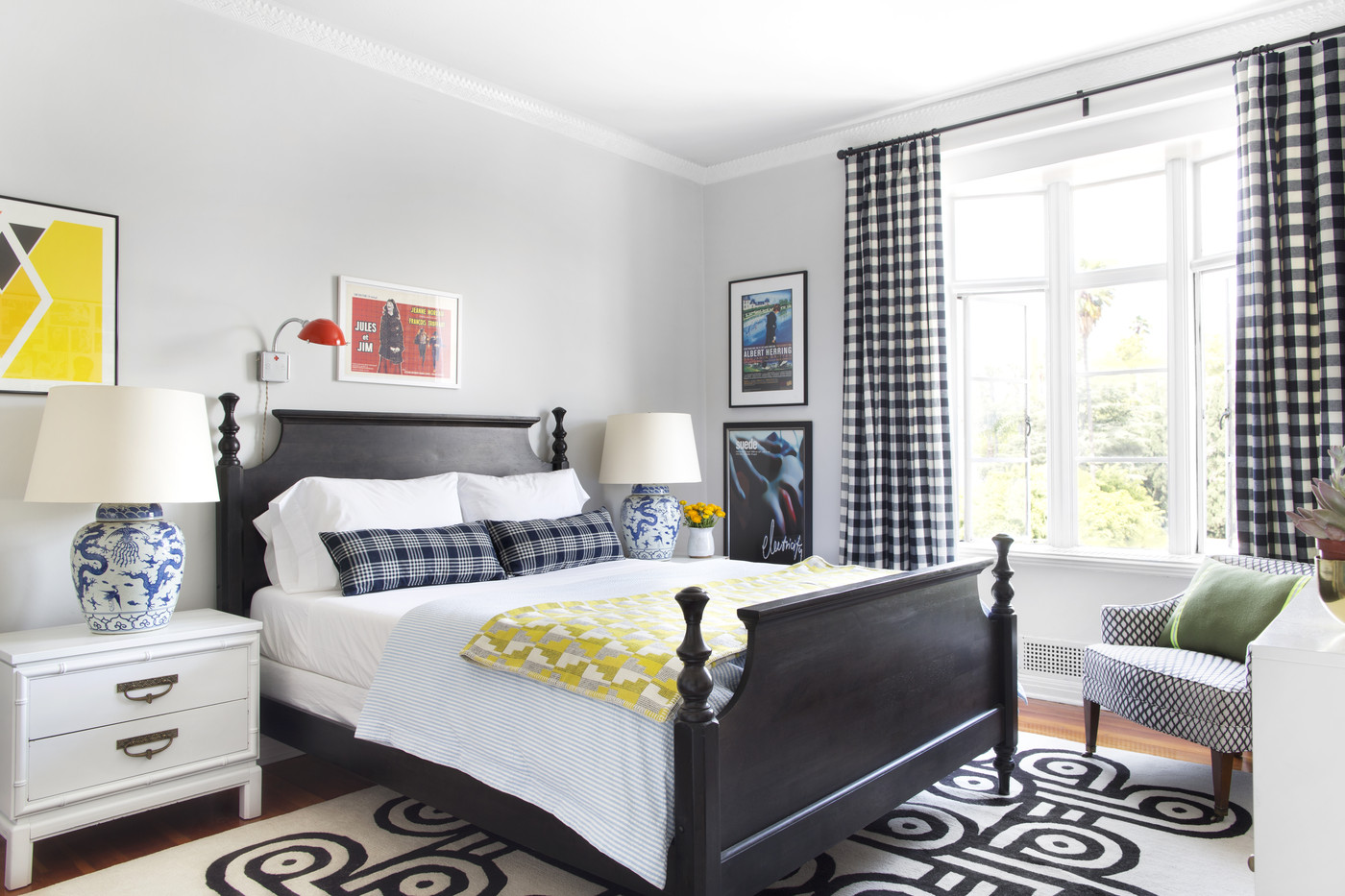 ways to set up a small bedroom bay decorating with plaid lonny 21182