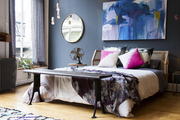 The bed in a loft designed by Athena Calderone for CB2