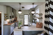 A traditional kitchen with neutral accents.