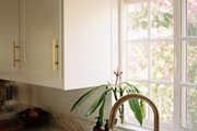Contemporary vignette in the renovated kitchen space.