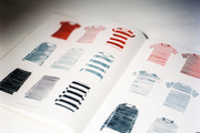 A Chance lookbook featuring striped shirts