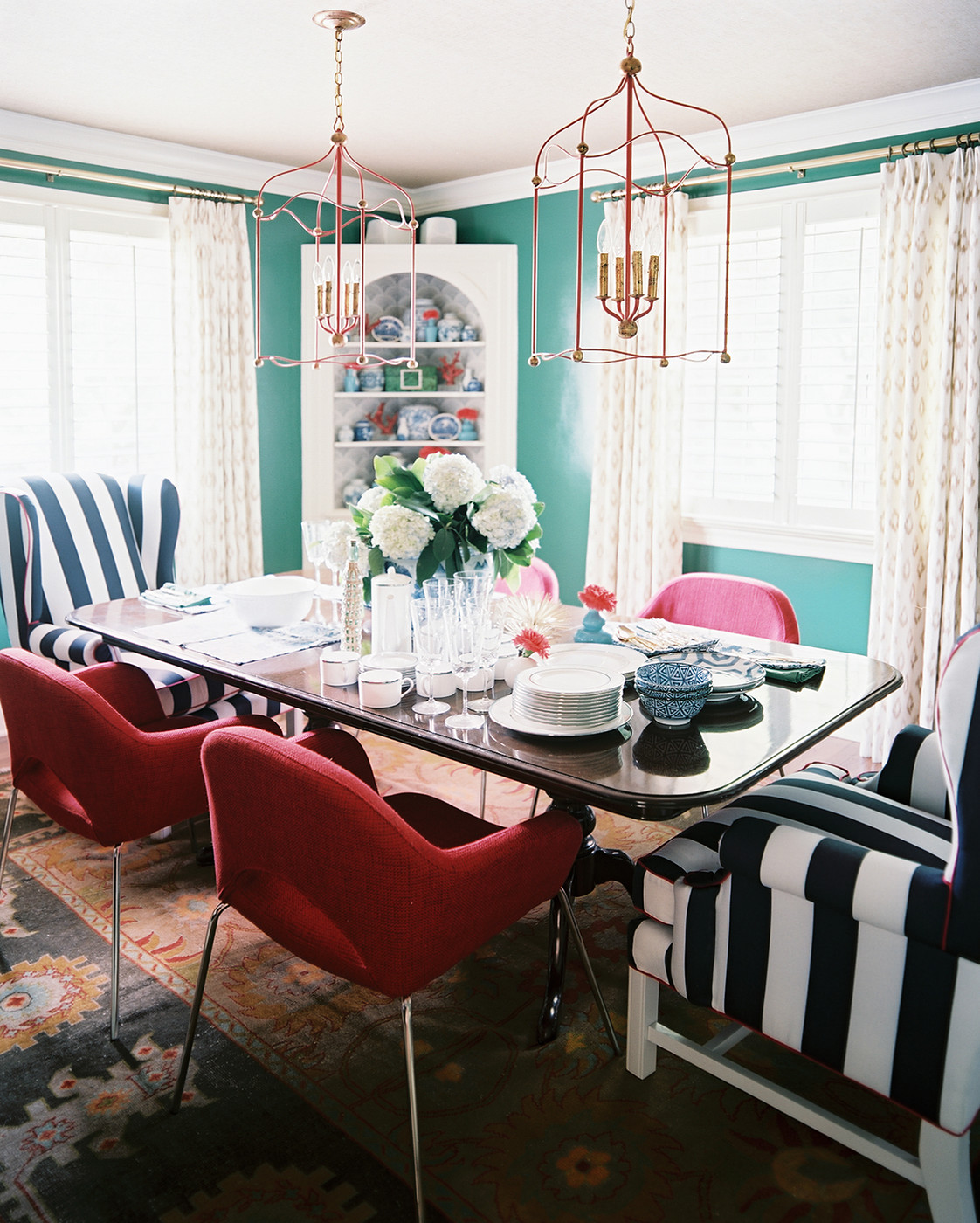 Teal dining room photos design ideas remodel and decor for Teal dining room decorating ideas