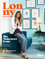 The October issue of Lonny is devoted to fall makeover ideas, from a Hudson Valley farmhouse to actress Jessica Alba's brand-new Santa Monica office.