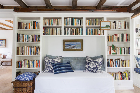 Traditional Bookshelf - Custom bookshelves with a reading nook