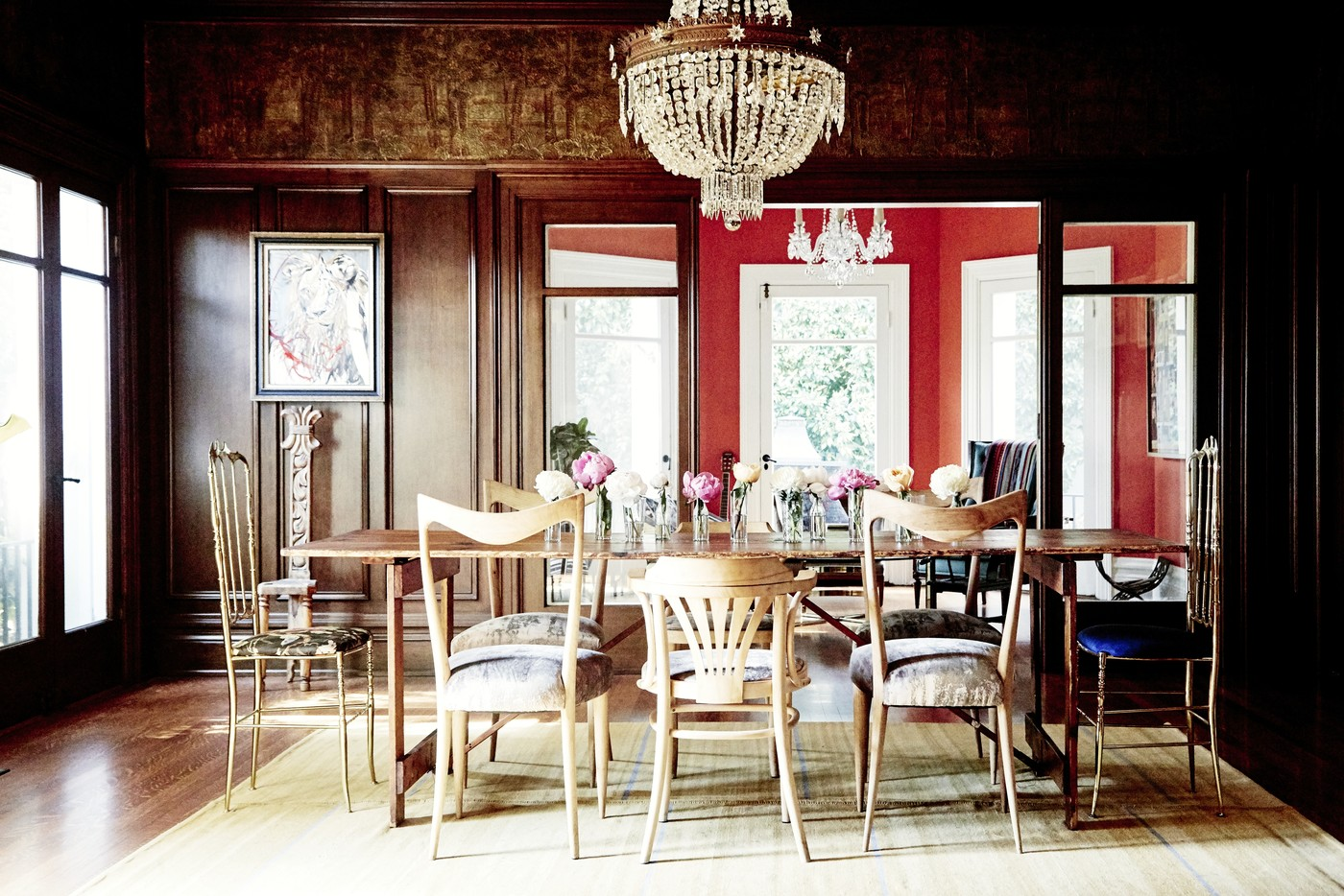 Eclectic Chairs   Dining Room Decorating Ideas   Lonny