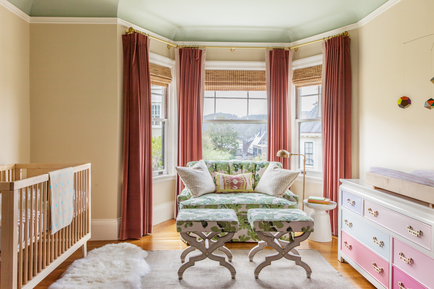 As a soft landing 15 ways to use an ikea sheepskin for Drapes over crib