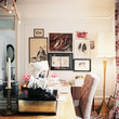 Eclectic Traditional Vintage Work Space