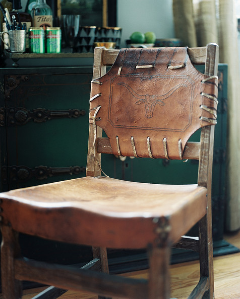 Leather And Wood Chair Photos (1 Of 1)