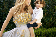 Molly Sims with her son, Brooks