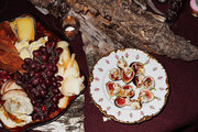Platters of hors d'oeuvres for hungry guests
