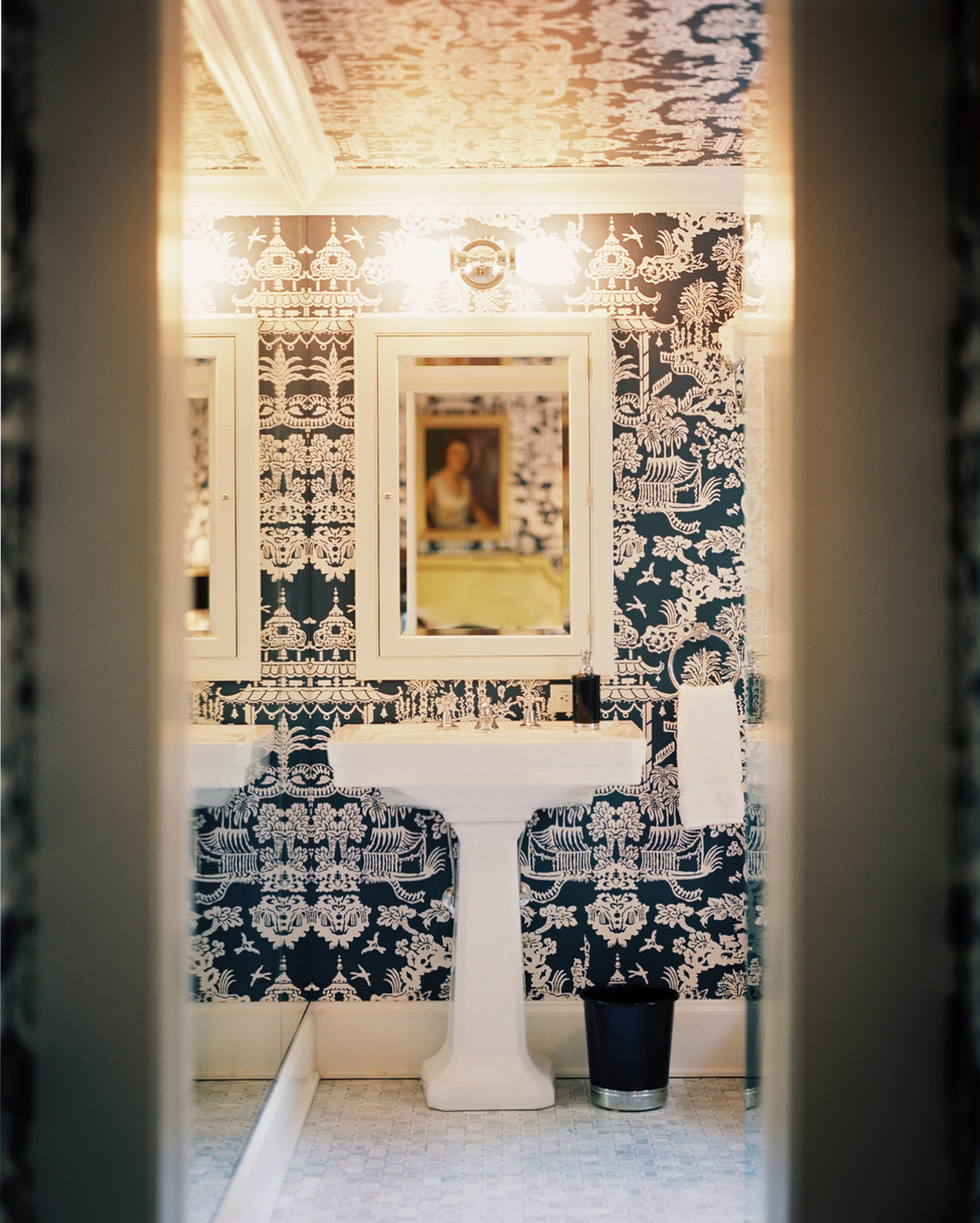 Chinoiserie Powder Room Wallpaper Design Ideas Lonny