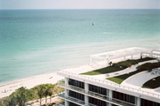 Views of the beach from a Miami home