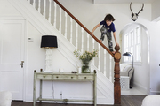 A balancing act on a classic staircase