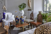 Sculptures, art and antiques fill Ronald Bricke's curated living room