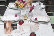 Crystalware on a French traditional tablescape