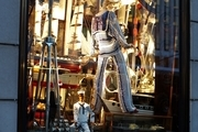 A nautical-themed window display at Bergdorf Goodman