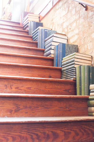 Stair-Stepped Books