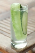 A cucumber-infused drink at Fagiani's Bar in downtown Napa