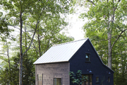 The barn on Michele Michael's property, painted in Benjamin Moore's Soot