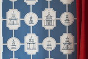 A new spin on chinoiserie wallpaper