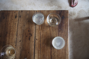 Beverages on a wooden tabletop