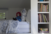 Built-in children's bed and book shelf.