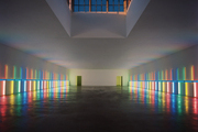The Dan Flavin Installation in the Menil Collection's Richmond Hall