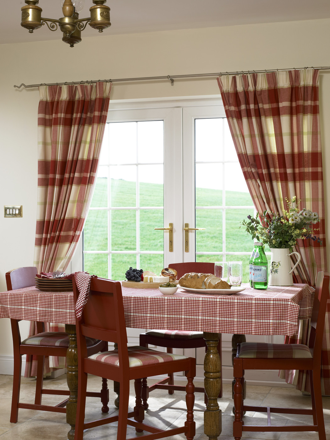 Check curtains photos design ideas remodel and decor for Dining room drapes