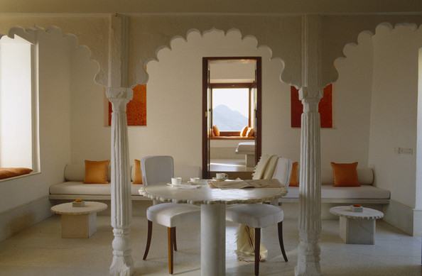 white moroccan dining room - dining room decorating ideas - lonny