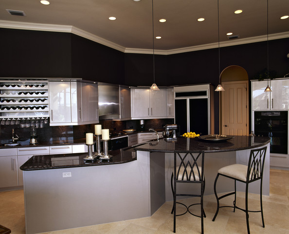 Details black contemporary kitchen keywords seating kitchen cabinets