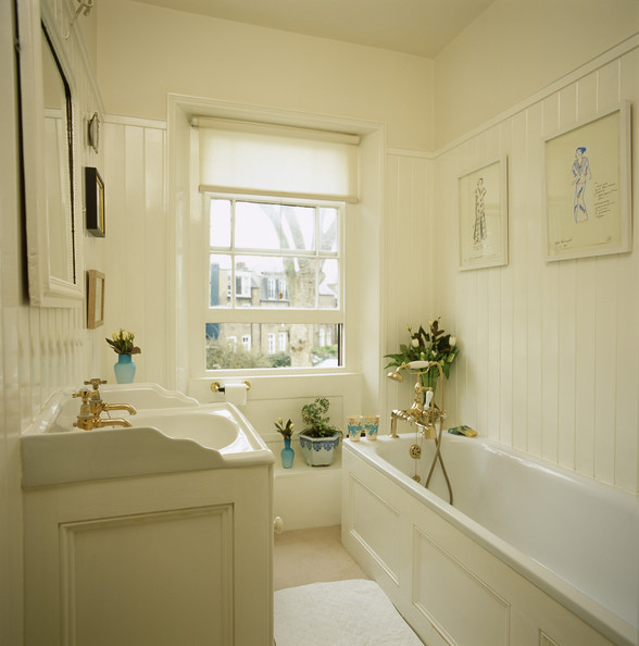 wainscoting ideas for bathrooms pictures - Country Bathroom s 60 of 96 Lonny