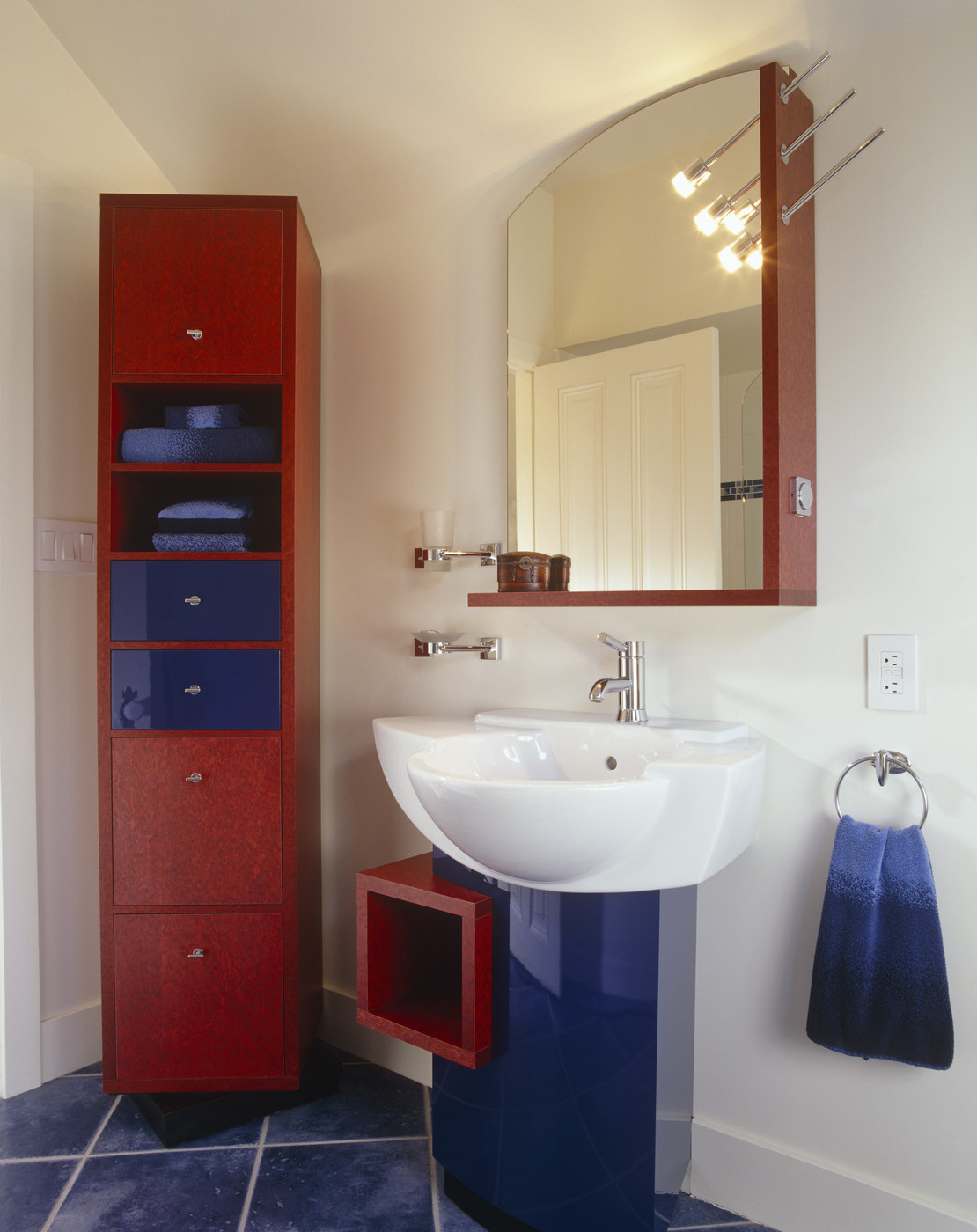 Red White And Blue Modern Bathrooms Lonny