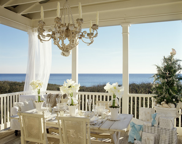 White Traditional Patio