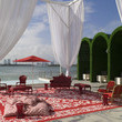 Red Eclectic-Traditional Patio